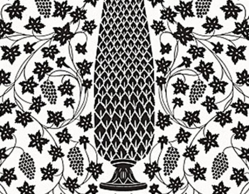 Schumacher Mughal Panel Wallpaper